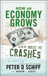 Why an economy grows and why it crashes